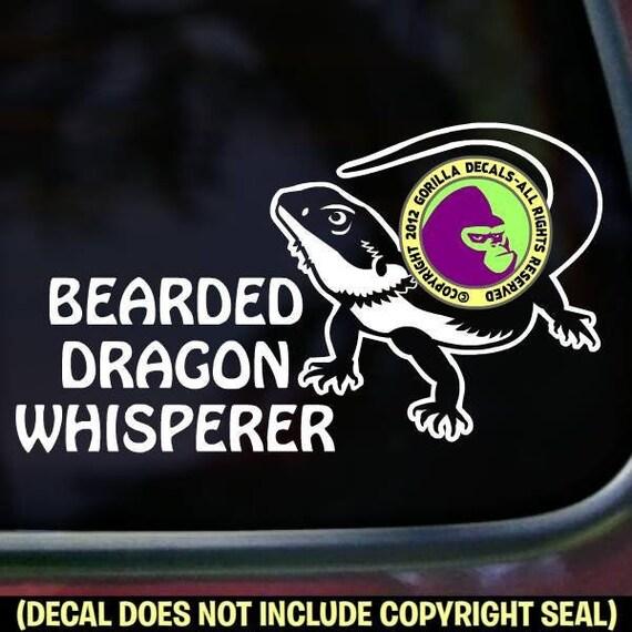 Bearded Dragon with Heart Vinyl Decal Sticker Car Truck Window