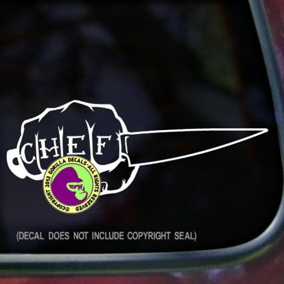 Chef Hat Sticker Car Decal Window Truck Bumper Laptop Wall Vinyl Notebook Auto
