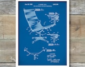 Eames Patent, Eames Chair Patent Poster, Eames Chair, Charles Eames, Charles and Ray Eames, Eames Art, Mid Century Furniture, Wall Art, P284