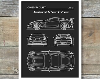 Pleasing Corvette Decor Etsy Download Free Architecture Designs Scobabritishbridgeorg
