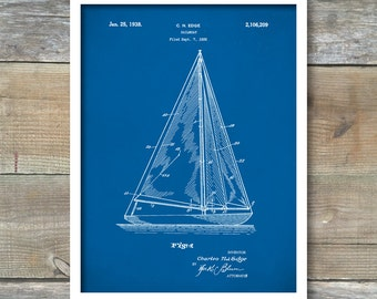 Patent print sailboat patent sailboat poster sailboat patent print sailboat poster sailboat patent sailboat print sailboat art sailboat decor sailboat wall art sailboat blueprint p118 malvernweather Image collections
