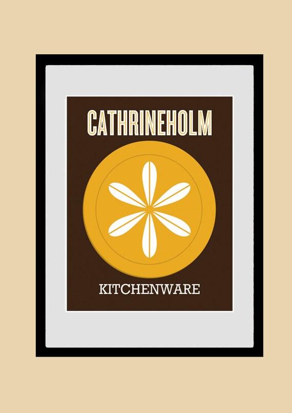 Arte cucina CATHRINEHOLM, utensili da cucina stampa, poster, cucina parete  arte, arte moderna, metà del secolo moderno, stampa, Giclee 21