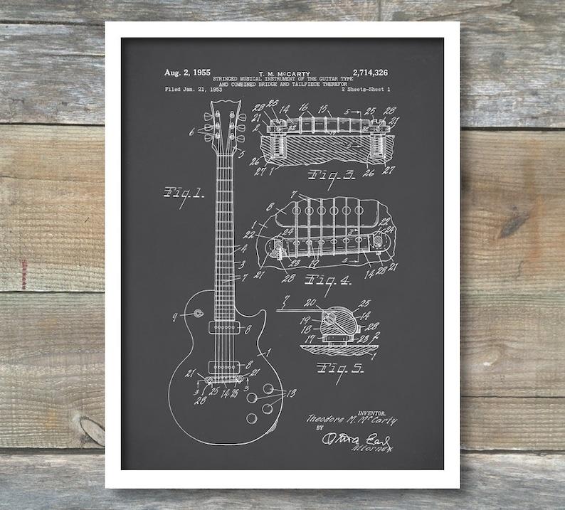 1a068abc23350 Gibson Les Paul Guitar, impression brevet, affiche de Guitare Gibson Les  Paul, Gibson Les Paul copie, Art de guitare Les Paul, musique Decor, P95