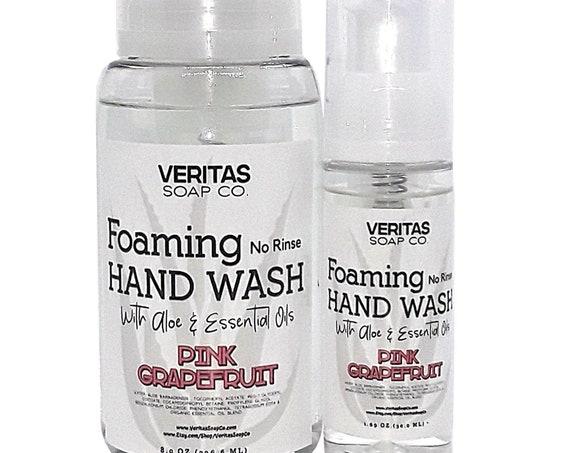NO RINSE Foaming Hand Wash w/ Aloe & Essential Oils   Vegan   Hand Soap   Gym   School   Purse   Travel   Hand Wash