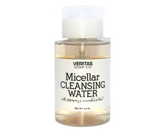 MICELLAR WATER No Rinse Cleanser w/ Elderberry & Resveratrol Extract, Vegan, Sensitive Skin, Acne, Clear Skin, Deep Clean, Fresh Face