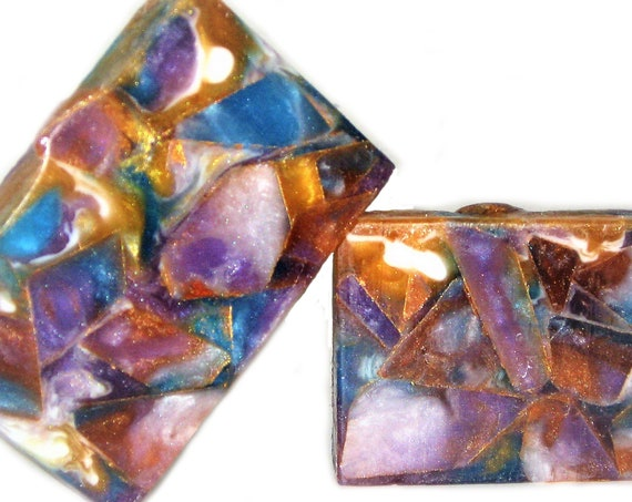 The GEMSTONE Bar - A Gorgeous Soap Bar with Organic Sunflower, Grapeseed, Rice Bran & Coconut Oils / Vegan / Amethyst / Topaz / Yoga / Gold