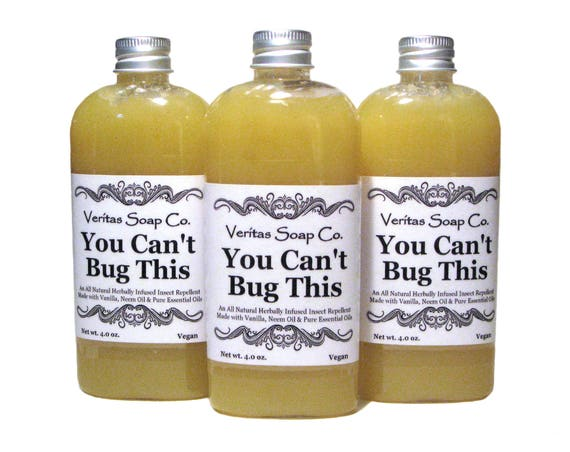 You Can't Bug This - Herbally Infused INSECT REPELLENT with Essential Oils, Neem & Vanilla / Vegan / Kids / Outdoors / Mosquito / Camping