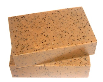 Coffee Soap - The COFFEE Bar -  Coffee Butter, Triple Brewed Coffee, Caffeine Extract & Babassu Oil, Vegan, Exfoliate, Kitchen Soap, Garden