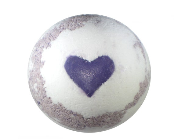 LAVENDER LOVE Bath Bomb - All NATURAL Bath Fizzer with Pink Himalayan Salt, Purple Brazilian Clay, Cocoa Butter & Essential Oil / Vegan