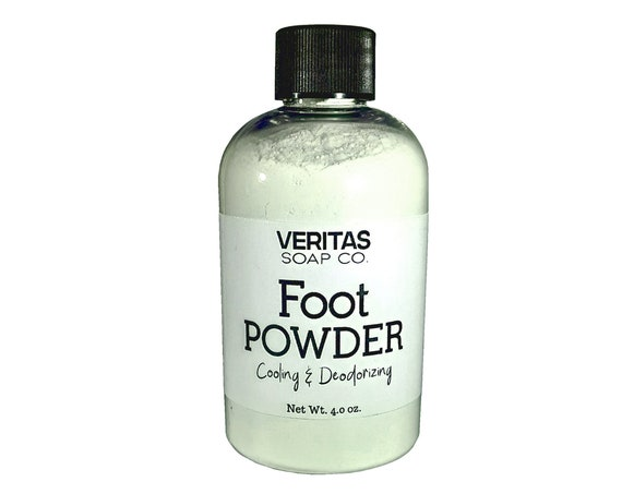 FOOT POWDER Cooling & Deodorizing - De-Funk and De-Skunk Your Feet! With Organic and Natural Ingredients, No Synthetics, Unisex, Teens