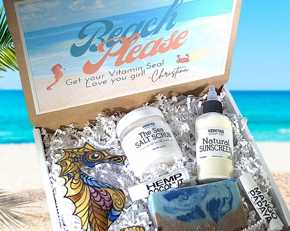 BEACH PLEASE Bestsellers Gift Box - Love You Box   Gift for Friend   Family   Sustainable Art   Personalized Gift   Spa Box   Ocean   BFF