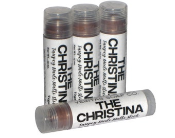 THE CHRISTINA Multi Stick  - A Honey Taupe Sheer Shimmer for Lips/Cheeks/Eyes - VEGAN / Highlighter / Lipstick / Eye Gloss / Cream Blush