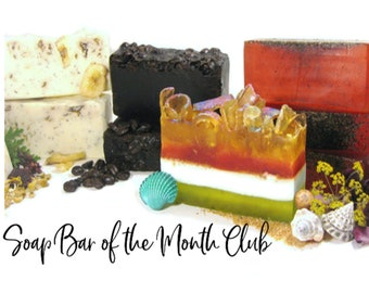 SOAP Bar of the Month CLUB - Receive an Artisan Soap Bar in the Mail Every Month for 6 months w/ FREE Samples / Shipping Incl / Gift / Save