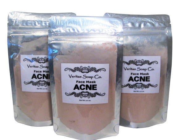 ACNE Face Mask - Calamine Powder, Bee Pollen Powder, Organic Turmeric, Frankincense, Aloe Vera, Sea Clay & Maca Powder - Teen / Problem Skin