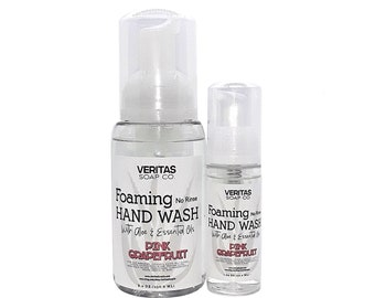 NO RINSE Foaming Hand Wash w/ Aloe & Essential Oils, Vegan, Hand Sanitizer, Hand Soap, Gym, School, Purse, Travel
