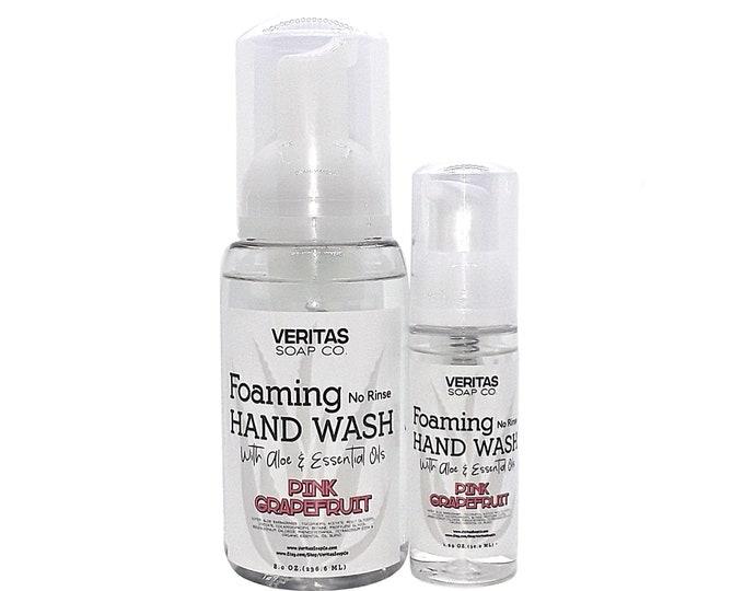 Featured listing image: NO RINSE Foaming Hand Wash w/ Aloe & Essential Oils, Vegan, Hand Sanitizer, Hand Soap, Gym, School, Purse, Travel