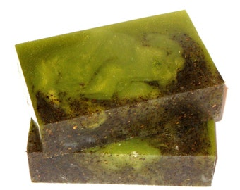 Lemongrass Soap - The LEMONGRASS SAGE Bar - Energize and Uplift with 100% Pure Lemongrass Essential Oil, Shea Butter & Ground Sage, Vegan