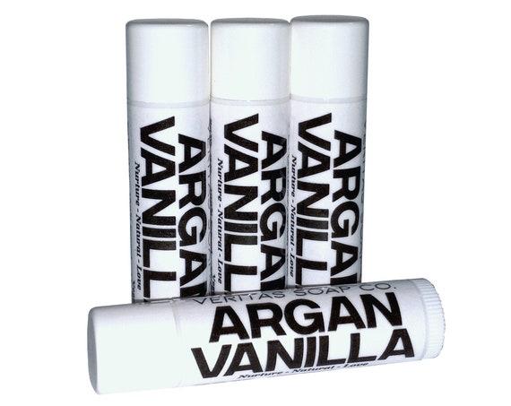ARGAN VANILLA Lip Balm - Argan Oil, Unrefined Virgin Coconut Oil & Organic Vanilla Essential Oil  - VEGAN / Lip Balm / Soft Lips / Kiss