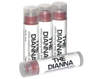 THE DIANNA Multi Stick  - Sheer Golden Cranberry Makeup Stick with Gold/Copper Shimmer for Lips/Cheeks/Eyes - Vegan / Lips / Eyes / Blush