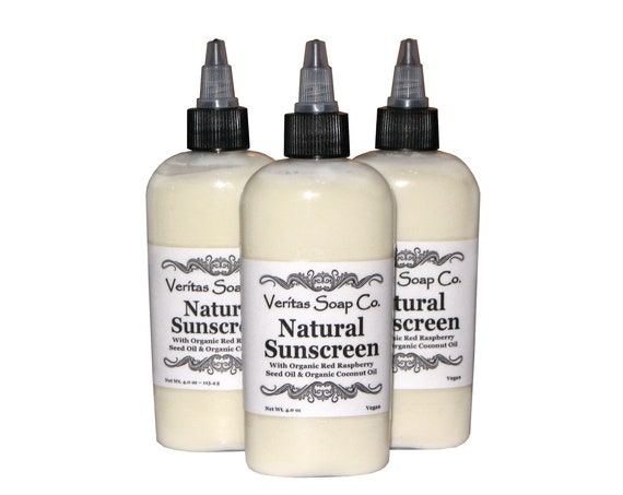 Natural SUNSCREEN Lotion - Made with Organic & Natural Ingredients /Kid Safe / NO Chemicals / Beach / Pool / Summer / Camping / Daily Use