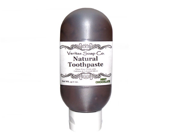 MINT CHOCOLATE Toothpaste - Clean Your Teeth with Organic Cacao & PEPPERMINT / Vegan / No sls / No Fluoride / Brown Toothpaste / Chocolate