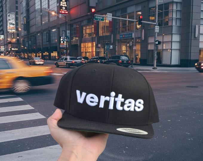 VERITAS Snapback 3D Puff High Profile Hat | Truth | Patriot | American | Military | Veteran