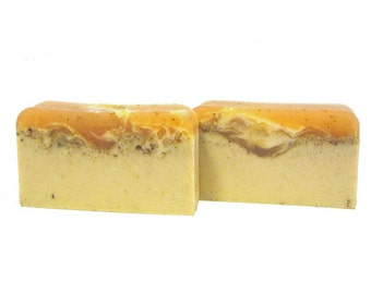 Pumpkin Soap - The PUMPKIN CREAM Bar - Pumpkin Pulp & Pumpkin Butter To Help Repair Damaged Skin, Shea Butter, Holiday, Gift, Cinnamon