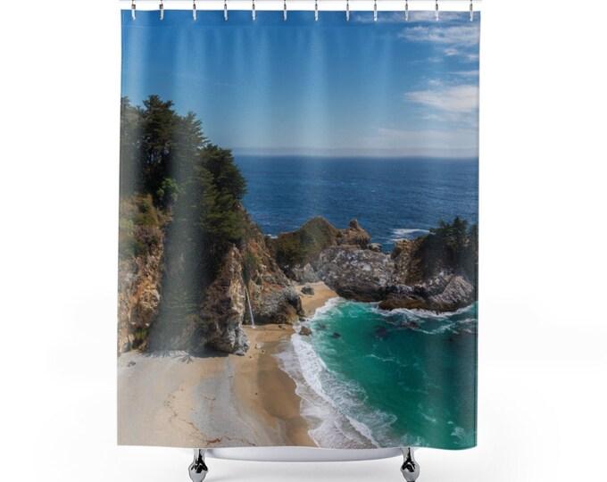 PACIFIC COAST Shower Curtain | California | HWY 1 | Santa Cruz | Pismo Beach | Big Sur
