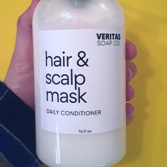 HAIR & SCALP MASK - Daily Conditioner For Growth | Organic Ingredients | Black Seed Oil | Volumizing | Fluffy Hair | Long Hair | Minimalist