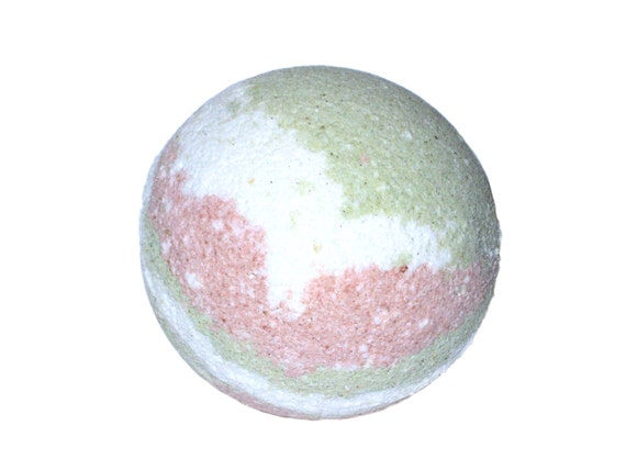 GROOVY Bath Bomb - ALL NATURAL Bath Fizzer with Clay, Pure Essential Oils, Moringa, Spinach & Chamomile Powders / Vegan / Bath / Peace / Zen