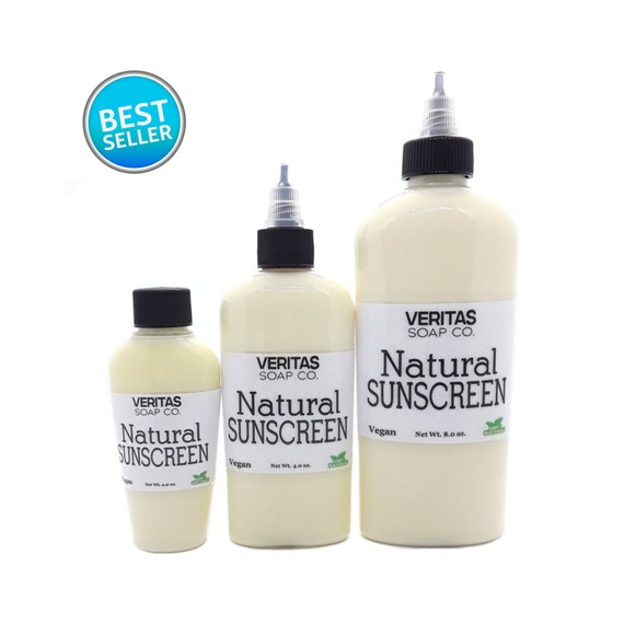 Natural SUNSCREEN - Made with Organic Ingredients | Kid Safe | NO Chemicals | Beach | Pool | Summer | Lake | Family | Daily Use | Reef Safe