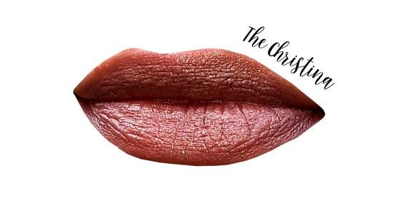 Cream Makeup - A Honey Taupe Sheer Shimmer - THE CHRISTINA Multi Stick - VEGAN / Lips / Highlighter / Lipstick / Eye Gloss / Cream Blush