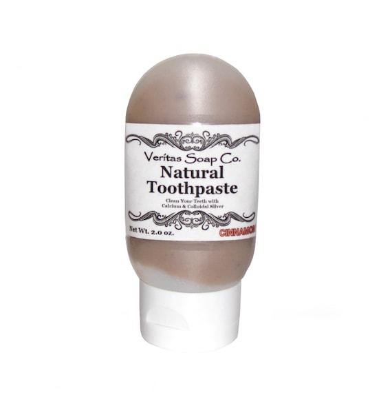 CINNAMON Toothpaste - Clean Your Teeth with Calcium, Colloidal Silver & Organic Cinnamon / Vegan / No sls / No Fluoride / Spicy Toothpaste