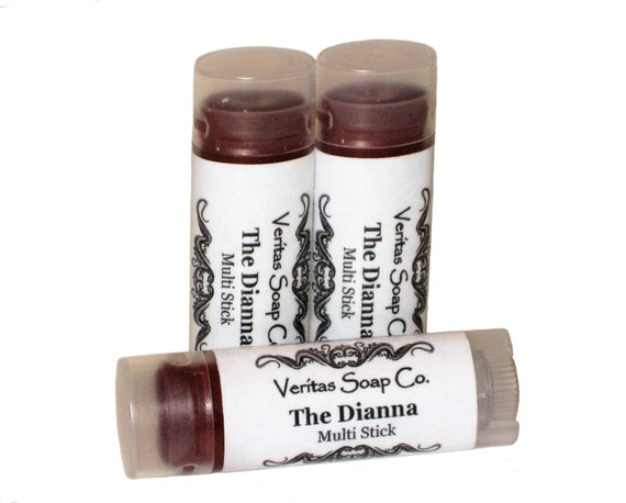 THE DIANNA Multi Stick  - Sheer Makeup Stick with Gold & Copper Shimmer for Lips/Cheeks/Eyes - Vegan / Lips / Eye Gloss / Blush
