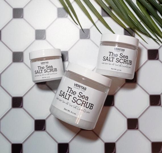 The SEA SALT SCRUB - Dead Sea Salt, Organic Coconut Oil, Pure Lime Essential Oil & Fresh Lime Juice / Vegan / Beach / Salt Life / Key West
