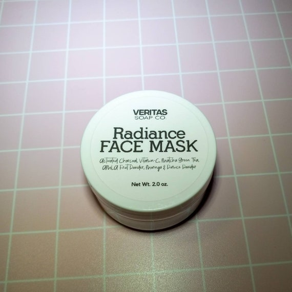 RADIANCE Face Mask/Cleansing Grains - Activated Charcoal, Vitamin-C, Matcha Green Tea, AMLA Fruit Powder, Moringa & Pumice Powder