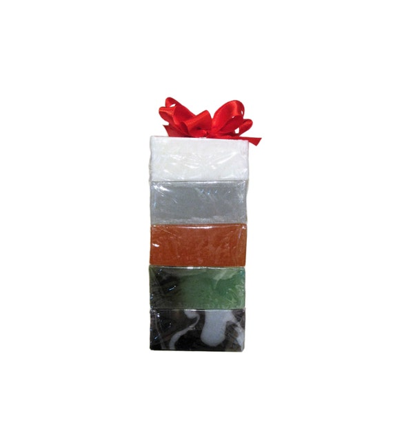GIFT SAMPLE Soap 5 PACK -  2.3 oz each - Soap Bars are Individually Wrapped - Holiday / Christmas / Birthday / Anniversary / Travel