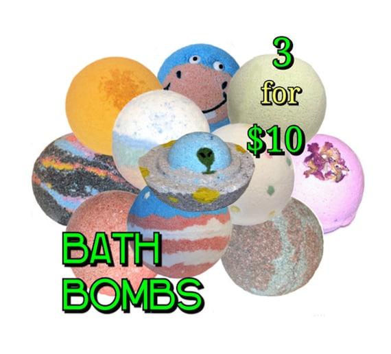 Bath Bomb SALE - 3 for 10 Dollars - Save Money when you buy 3 or more Bath Bombs! (Companys Choice) - / Vegan / Bath Fizzer / Bath Bomb /