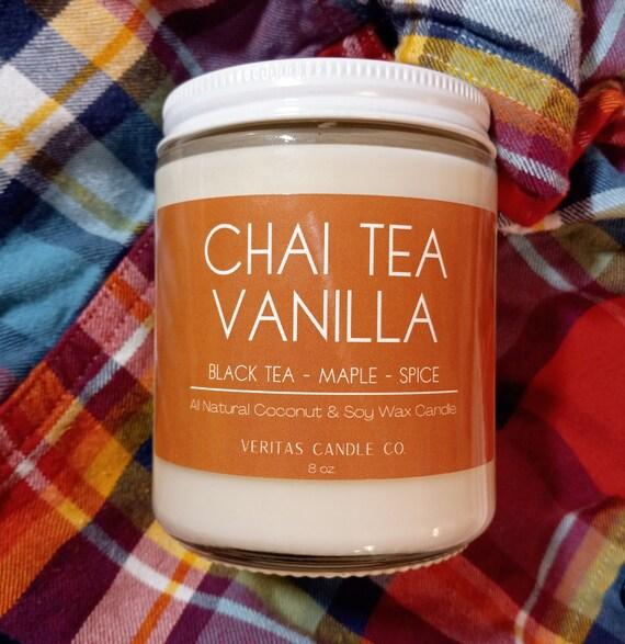 CHAI TEA VANILLA All Natural Coconut + Soy Wax Candle | Black Tea | Maple | Spice | Clove | Sugared Cinnamon