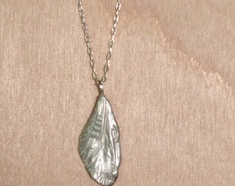 cicada mini wing necklace -sterling silver or antiqued bronze