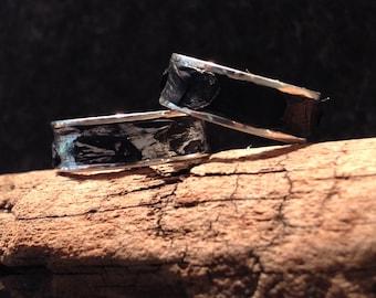exotic python snake skin + sterling silver ring