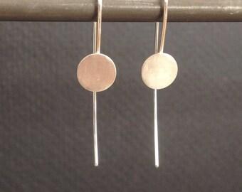 geometry dot sterling silver earrings