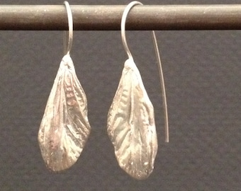 cicada mini wing earrings -sterling silver or bronze