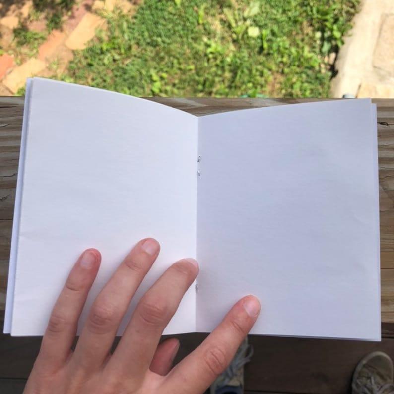 Crossword Design Pocket Sized Handmade Sketchbook Notebook Ready to Ship!