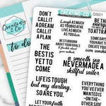 Inspirational Inspirational Quote Planner Stickers for a Variety of Planners, Motivational Quote Stickers, Inspirational Quotes - QS01