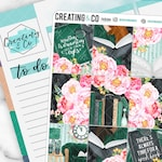 Spring into Books Weekly Planner Kit for No-White Space and White Space Planners  - FK93