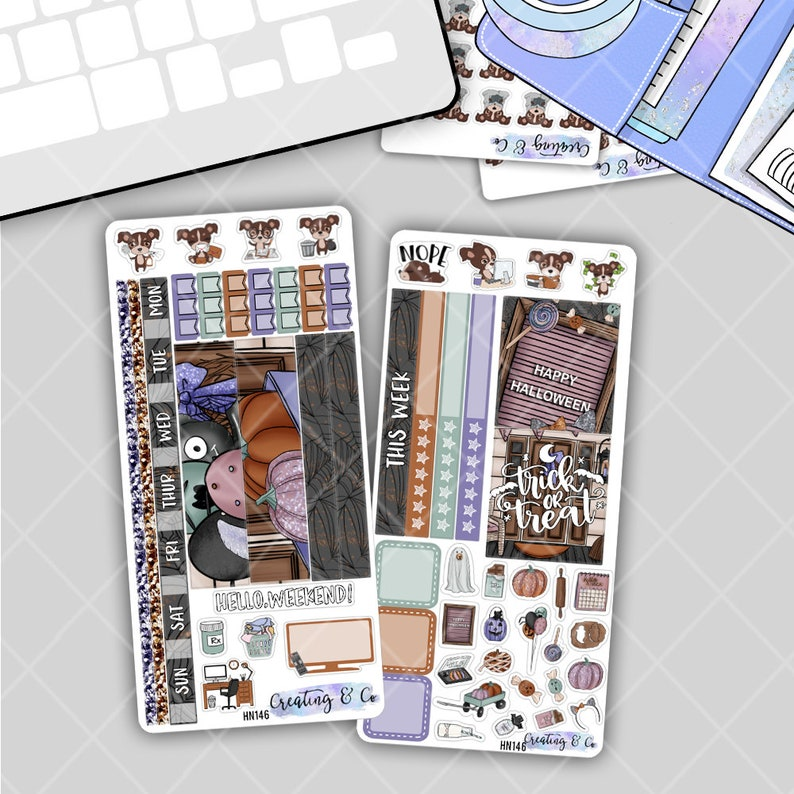 Trick or Treat  HOBONICHI WEEKS Planner Stickers Kit image 0