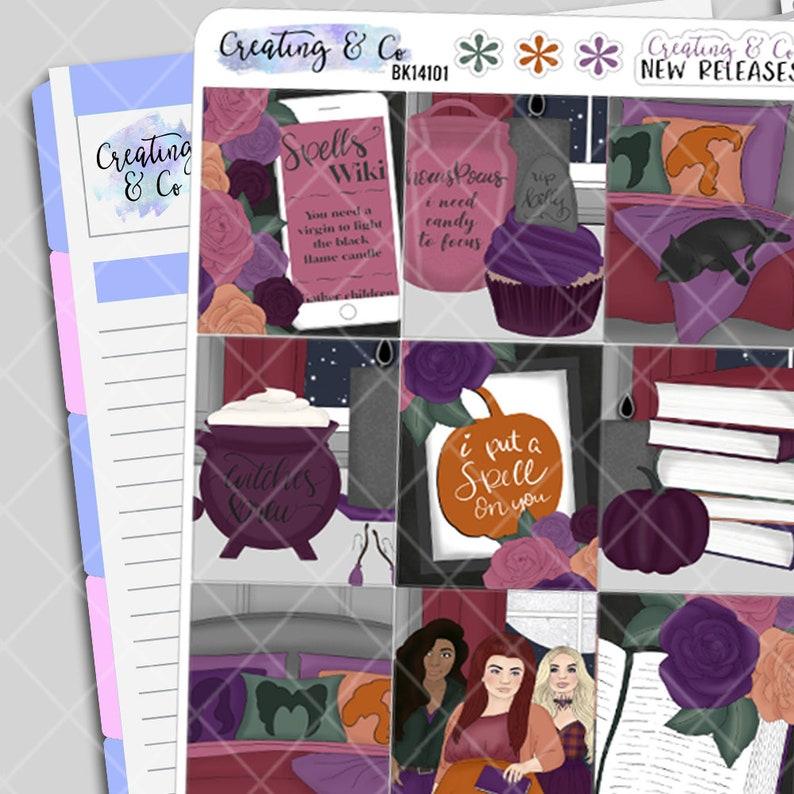 Hocus Pocus  Halloween Planner Stickers Kit image 0