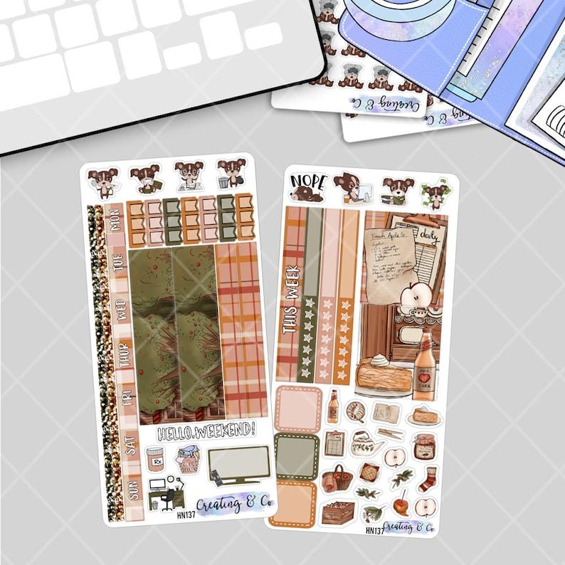 Apple Picking  HOBONICHI WEEKS Planner Stickers Kit image 0