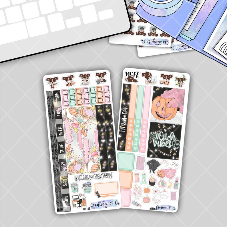 Haunt Me  HOBONICHI WEEKS Planner Stickers Kit image 0